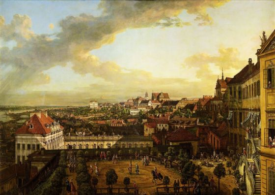 Bellotto, Bernardo: View of Warsaw from the Royal Castle. Fine Art Print/Poster. (4343)